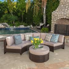 patios portofino patio furniture outdoor wicker ottoman red