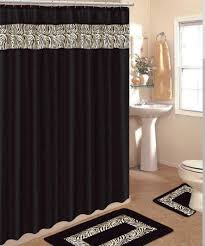 Shower Curtains Black Curtain Shower Curtain Sets With Rugs And Towels Bathroom Decor