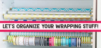 wrapping supplies clever ways to organize wrapping paper and gift wrapping supplies