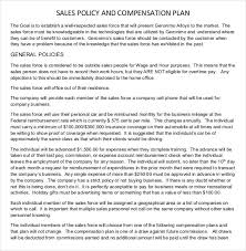 sales plan template 25 free sample example format free