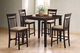 coaster 150041 5pc counter height dining set cappuccino 150041