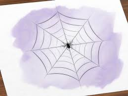 3 ways to draw a spider web wikihow