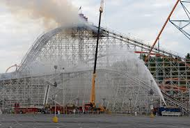 Is There A Six Flags In Pennsylvania Six Flags U0027 Colossus Roller Coaster Catches Fire Collapses Time