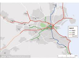 Map Of Phoenix Metro Area by Dublin 20 Year Transport Strategy Published Railway Gazette