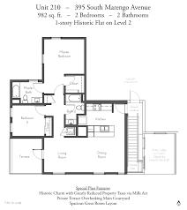 Residence Inn Floor Plan by Evanston Court Pasadena