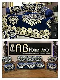 ab home decor ab home decor combo of floral design diwan set and sofa cover sets