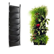 amgateeu 7 pockets vertical wall garden planter wall mounted plant