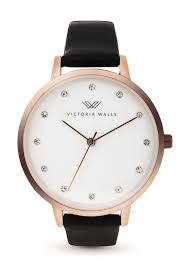 rose gold mercedes victoria walls mercedes analog watch in rose gold and black