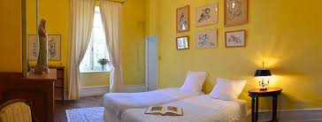 Yellow Bedroom Bedrooms South Of France Near Carcassonne And Toulouse Chateau