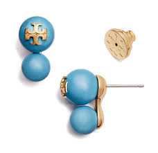 turquoise earrings studs burch blue new pearl studs turquoise earrings