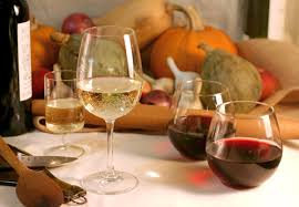 a thanksgiving menu with the wine pairings teeny tiny