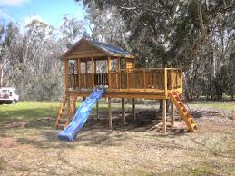 monster fort with custom side deck for your backyard