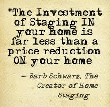 staging can help you get the price you want on your home without