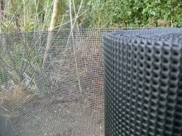 plastic garden fencing 1m x 10m black 5mm holes green netting