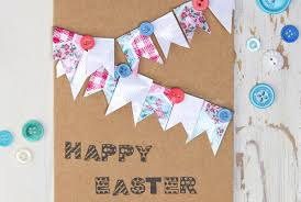 how to make a bunting easter card hobbycraft blog