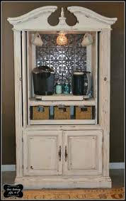 Bar Hutch Armoire Turned Into Bar Omg A Personal Favorite From My Etsy