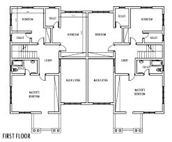 Modular Duplex Floor Plans 4 Bedroom Semi Detached Duplex First Floor Plan Duplex
