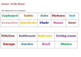 house furniture sofa table wardrobe game worksheet kids