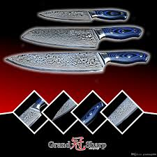 grandsharp damascus knife set 67 layers japanese damascus steel