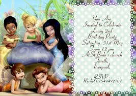 personalized tinkerbell party invitations thank you cards