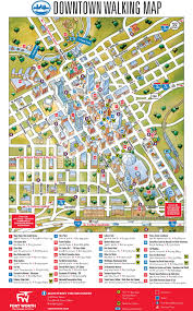 fort worth map fort worth downtown map