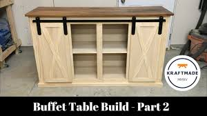 how to make your own barn door hardware buffet table build part 2 sliding barn door hardware kraftmade
