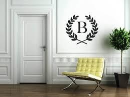 monogram wall decals for bedroom jen joes design image of monogram wall art stickers