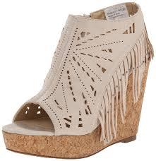 amazon com not rated women u0027s fringe delight wedge sandal