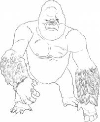 stylish king kong coloring pages to invigorate to color an image