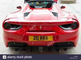 ferrari coupe rear rear view of ferrari 488 spider luxury supercar stock photo