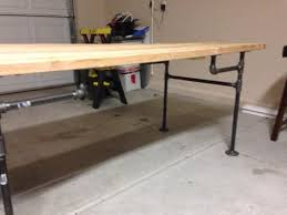 Steel Pipe Desk Black Iron Pipe Table 6 Steps With Pictures