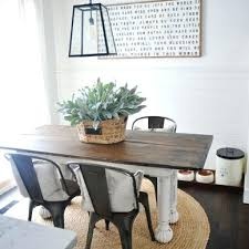 farmhouse table with metal chairs farm table with metal chairs best round farmhouse table ideas on