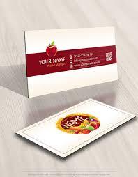 Free Online Business Card Design Exclusive Design Organic Fruits Vegetables Logo Free Business Card