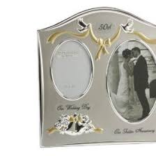 golden anniversary gift ideas two tone silverplated wedding anniversary gift photo frame 50th