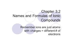 chapter 3 2 names and formulas of ionic compounds remember ions