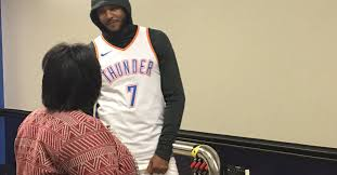 Carmelo Anthony Bench Press Carmelo Anthony Brought Out U0027hoodie Melo U0027 For Thunder Media Day