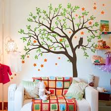 Tree Wall Decal For Nursery Large Tree Wall Sticker Vinyl Owls Tree Pattern Wall Decal