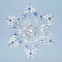 31 best beaded snowflakes images on beaded snowflake