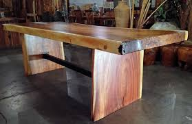 Large Table Legs by A Large Live Edge Monkeypod Wood Slab Dining Table With Custom