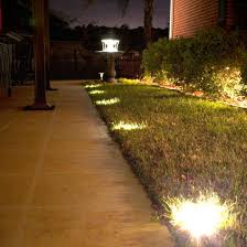 In Ground Landscape Lighting Solar Ground Deck Lights Frontgate
