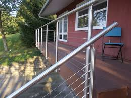 stainless steel wire outdoor stair steps deck balcony railing designs