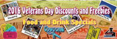 restaurant discounts veterans day 2016 free meals free drinks restaurant discounts