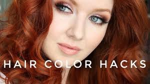 hair color for black salt pepper color wants to go blond hair color hacks my new red hair color youtube