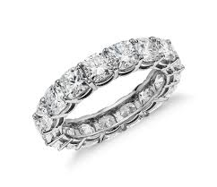 1 Carat Cushion Cut Engagement Ring Cushion Cut Diamond Eternity Ring In Platinum 5 Ct Tw Blue Nile