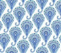 intricate indigo paisley pattern traditional seamless
