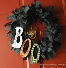 Deco Mesh Halloween Wreaths by 15 Frugal Diy Halloween Wreaths