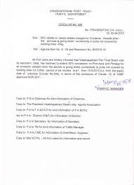 visakhapatnam port trust circulars