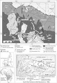 Congo Africa Map Geological Map Of The North Western Part Of The Congo Craton
