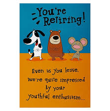retirement card card invitation sles retirement card sayings picture of dog
