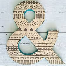 wall decor ampersand wall decor design trendy wall personalized